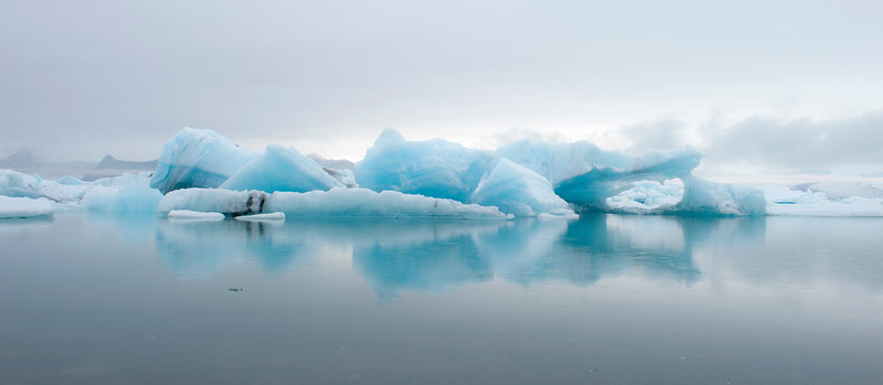 Jökusárlon (glacier lagoon) in south Iceland along the Ring Road.