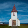 A small church close to Hellnar Cover on Snæfellsnes Peninsula