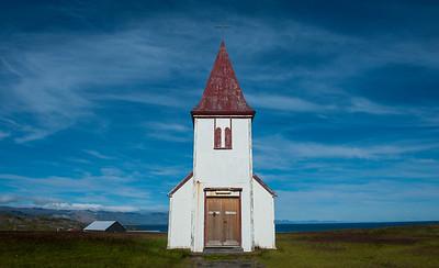 A small church close to Hellnar Cover on Snæfellsnes Peninsula
