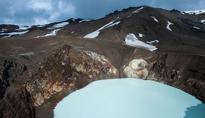 Volcanic lake, Askja, Iceland.