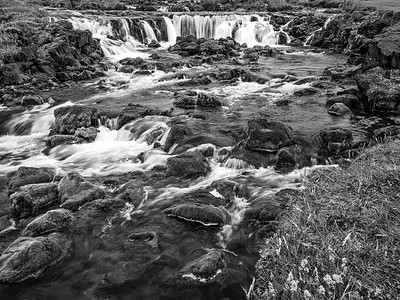 Waterfall Iceland B&W Copyright 2021 Steve Leimberg UnSeenImages Com _DSF1556-