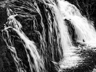 Waterfall - Iceland B&W Copyright 2021 Steve Leimberg UnSeenImages Com _DSF1070