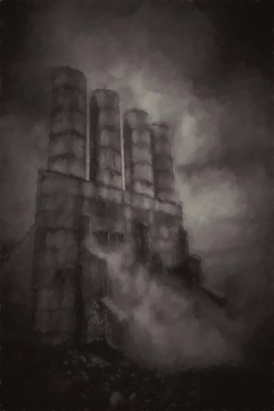 Four Stacks - Geothermal Plant - Iceland B&W - Copyright 2015 Steve Leimberg - UnSeenImages Com _U0U5870