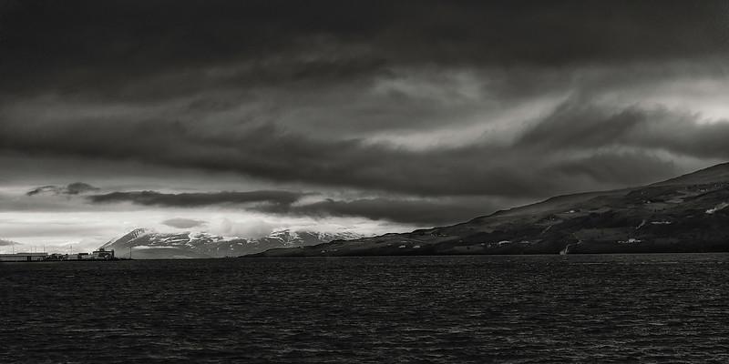 Glacier Near Akureyri - Iceland - B&W  Copyright 2015 Steve Leimberg - UnSeenImages Com _Z2A5221
