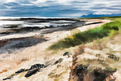Beach and Mountains - PAINTING - Copyright 2017 Steve Leimberg - UnSeenImages Com _Z2A1327