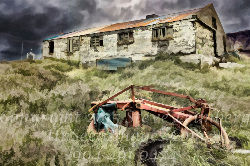 Old Tractor at Farmhouse - PAINTING - Copyright 2017 Steve Leimberg - UnSeenImages Com _Z2A1045
