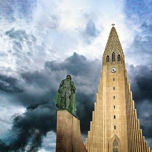 Lief Ericksson and Hillsgrimskkirja Iceland Copyright 2021 Steve Leimberg UnSeenImages Com _U0A9831 copy