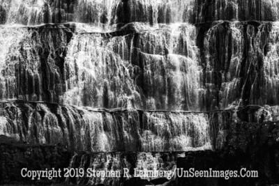 Dyjandi Foss Close Up B&W Copyright 2019 Steve Leimberg UnSeenImages Com _DSF4932