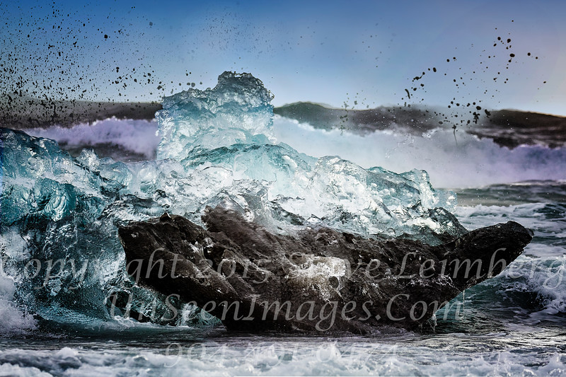 Waves Hitting Berg - Copyright 2017 Steve Leimberg - UnSeenImages Com _Z2A9471