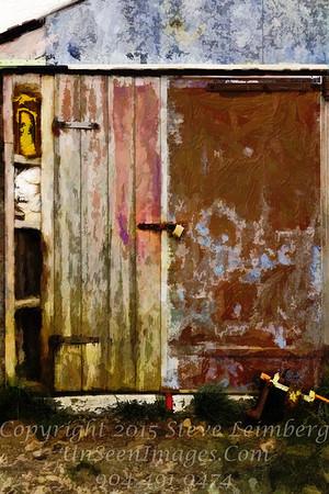 Barn Door in Iceland - PAINTING - Copyright 2017 Steve Leimberg - UnSeenImages Com _Z2A0925