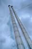 Leaning Stacks at Geothermal Power Plant - Copyright 2015 Steve Leimberg - UnSeenImages Com _U0U5728