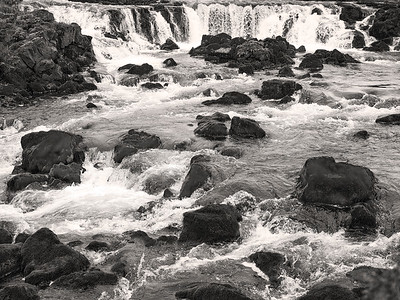 Waterfalls Iceland B&W Copyright 2021 Steve Leimberg UnSeenImages Com _DSF1575
