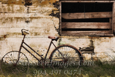 Bike Against Barn Iceland - PAINTING - Copyright 2017 Steve Leimberg UnSeenImages Com _Z2A0884