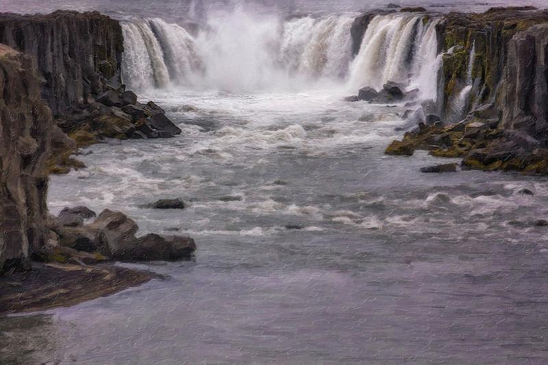 Godafoss Waterfall - Iceland - PAINTING - Copyright 2015 Steve Leimberg - UnSeenImages Com _Z2A4873