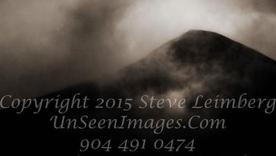 Mist Filled Mountain B&W - Copyright 2017 Steve Leimberg - UnSeenImages Com _Z2A1127