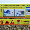 Danger Beach Closed