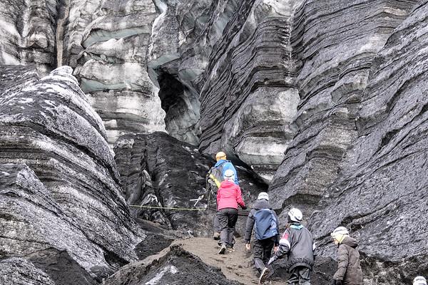 Hiking in Katla Ice Cave - Here we go..
