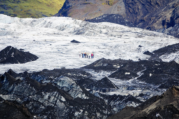Hiking the Solheimajokull Glacier