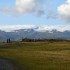Myrdalsjokull  Glacier in the background - 4th largest in Iceland