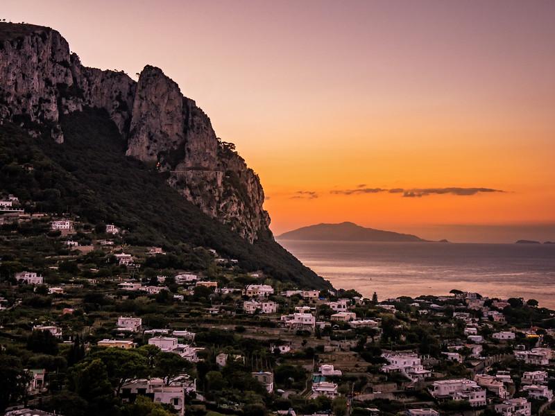 Isle of Capri sunset