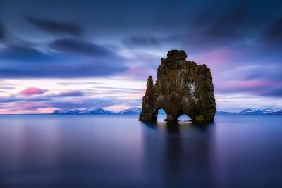 Hvítserkur Rock-Vatnsnes (Vatsnes) Peninsula-Iceland