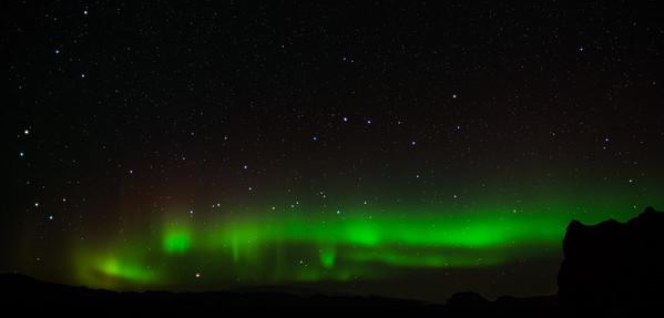 Aurora photographed near Vik, Iceland.