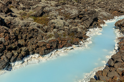 Blue Lagoon Creek And Lava
