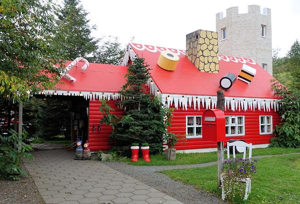 Santa lives in Akireyri, Iceland