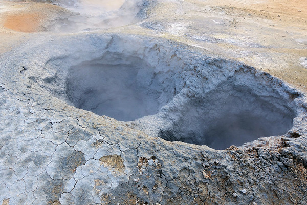 Hverir Boiling mud Namafjall Hverir Geothermal Area and yes, it smells.