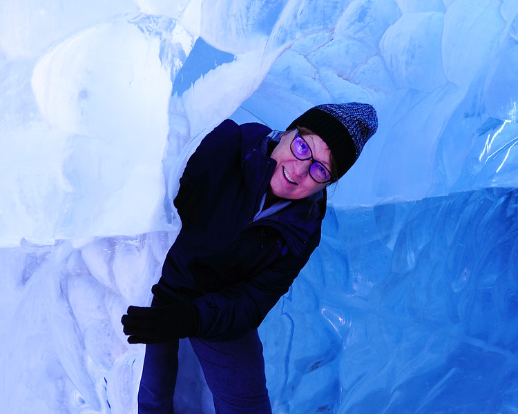 In an Ice cave.
