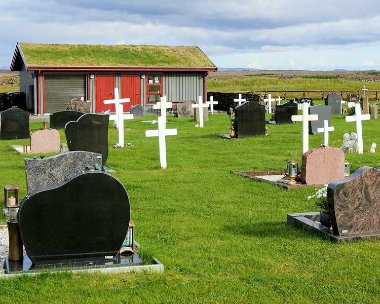 Hvalsneskirkja Cementary  next to oldest stone church 1887