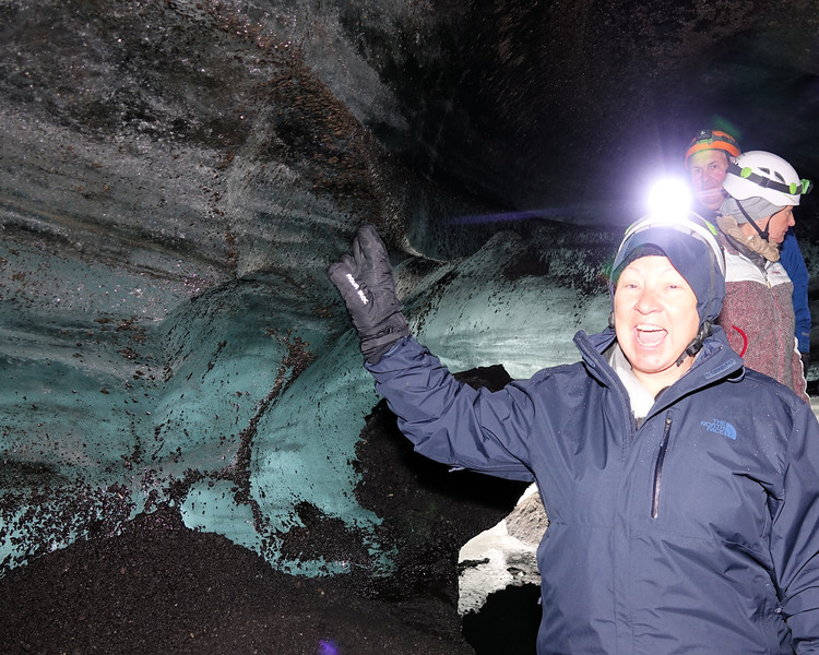 Hiking in Katla Ice Cave  - I made it!