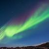 The aurora over Jokulsarlon Ice Lagoon.