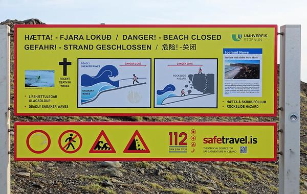Danger Beach Closed