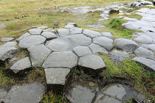 "Kirkjugolf or ""church floor"" is a natural formation of basalt (formed by lava) that is in a pattern that looks like a hegagonally tiled floor"