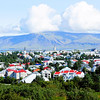 City view of Reykjavik and Mt. Esja