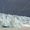 The icebergs are made up from age-old glacial ice, they might be as old as 1000 years