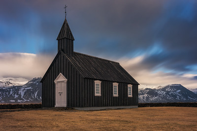 Black Church, Budhir, Iceland.