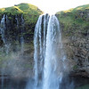 It is fantastic walking behind Seljalandsfoss
