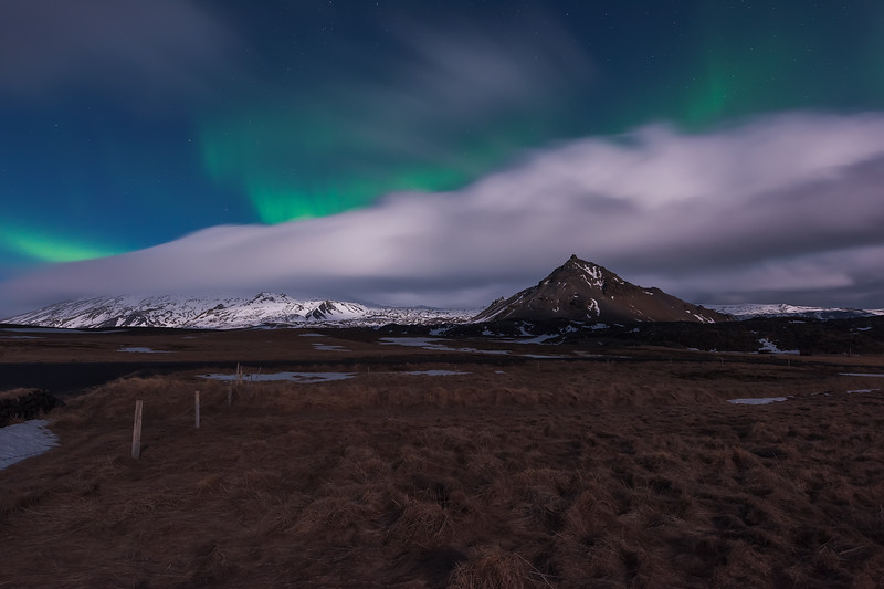 Northern Lights in Hellnar, Iceland.