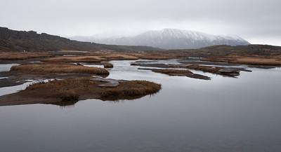 mountainrange at pingvellir