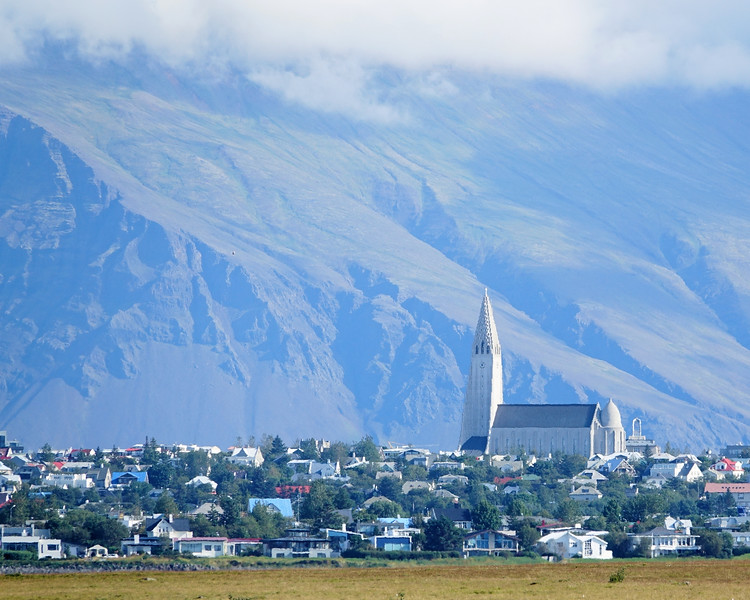 Reykjavik city view of Hallgrimur's Church