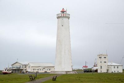 Lighthouse, Gardskaga, Iceland 10 July 2018