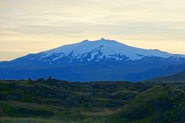 Snæfellsjökull is a glacier-capped volcano found on the tip of the Snæfellsnes Peninsula