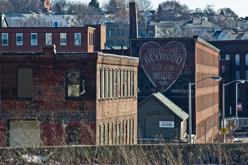 Heywood painted brick sign.
