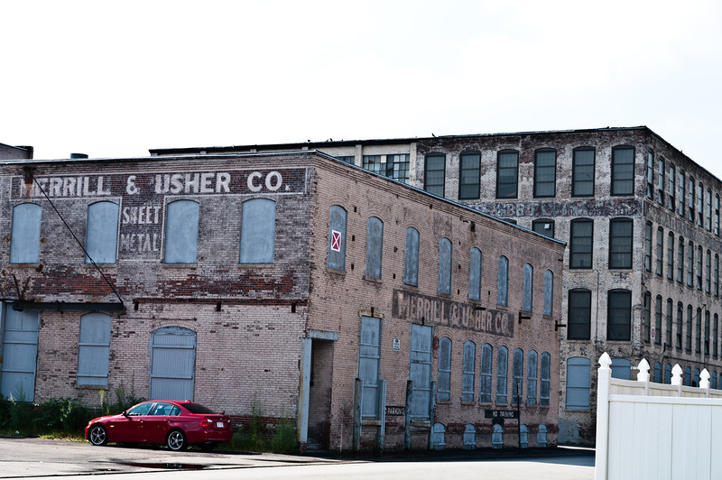 Old Industrial Bldgs w/ Painted signs