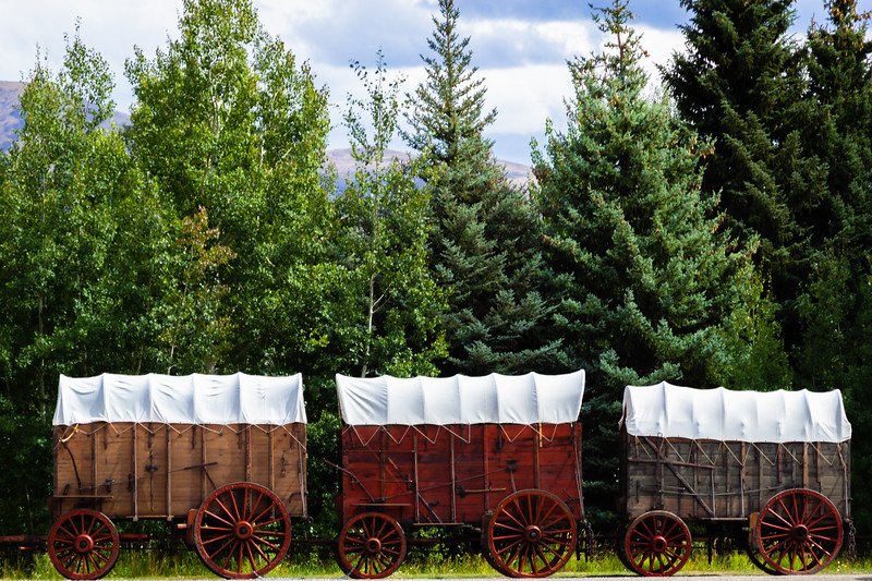 Wagons, Sun Valley, Idaho