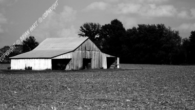IMG_8712b Old Barn in a Plowed Field (b&w)