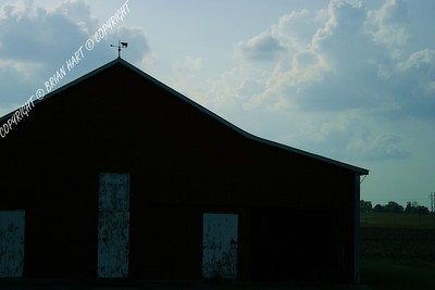 IMG_8720 Silhouette of a Barn and Weather Vane
