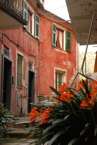 Terracotta buildings in Monterosso